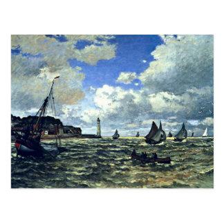 Carte Postale Monet - l'estuaire de la Seine chez Honfleur