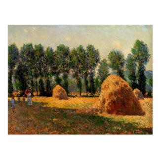 Carte Postale Monet - meules de foin chez Giverny, 1885