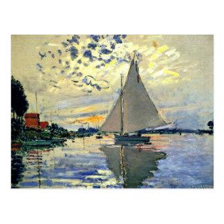Carte Postale Monet - voilier chez Le Petit-Gennevilliers
