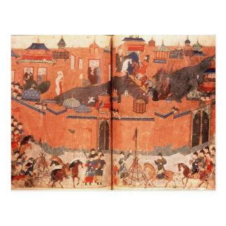 Carte Postale Mongoles sous la direction de Hulagu Khan