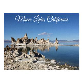 Carte postale mono de la Californie de lac