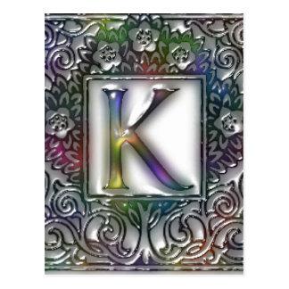Carte Postale Monogramme K