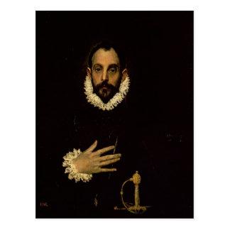 Carte Postale Monsieur avec sa main sur son coffre, c.1580