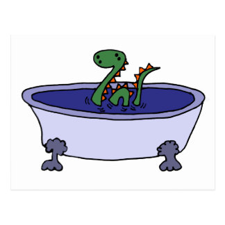 Carte Postale Monstre drôle de Loch Ness dans la baignoire