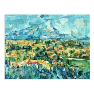 Carte Postale Mont Sainte-Victoire par Paul Cézanne (la