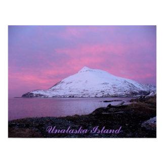 Carte Postale Montagne de bourrage de crâne, coucher du soleil