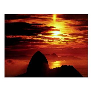 Carte Postale Montagne de Sugarloaf, Rio de Janeiro, Brésil