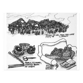 Carte Postale Montagne supérieure cassée de lac todd, Orégon