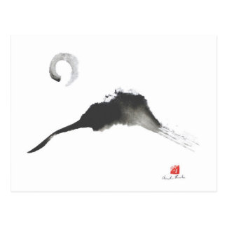 Carte Postale Montagne, un Sumi-e