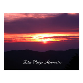 Carte Postale montagnes d'arête bleue