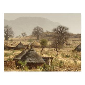 Carte Postale Montagnes de Nuba, village de Nugera