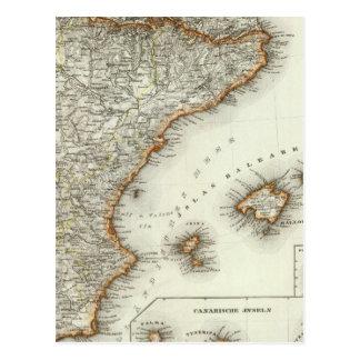 Carte Postale Montagnes et rivières des Îles Canaries