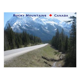 Carte Postale Montagnes rocheuses Canada