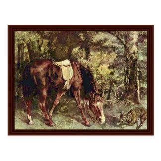 Carte Postale Monte dans les bois par Courbet Gustave