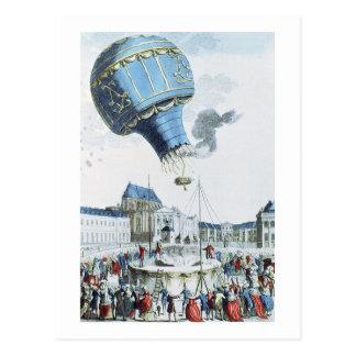 Carte Postale Montée de la montgolfière de frères de Montgolfier