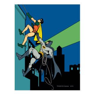 Carte Postale Montée de Robin et de Batman