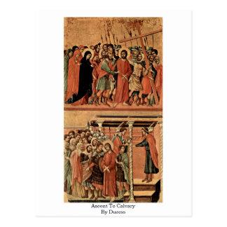 Carte Postale Montée vers le calvaire par Duccio
