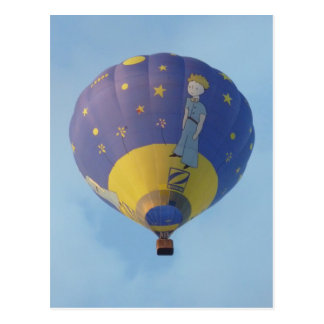Carte Postale Montgolfiere - Hot air balloon - Petit Prince
