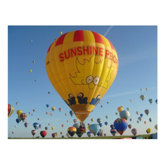 Carte Postale Montgolfiere - Hot air Balloon - Sunshine People