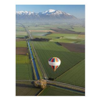 Carte Postale Montgolfière, près de Methven, Cantorbéry