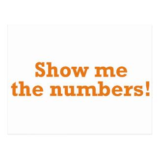 Carte Postale Montrez-moi les nombres !
