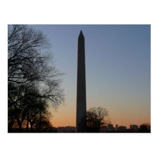 Carte Postale Monument de Washington au coucher du soleil