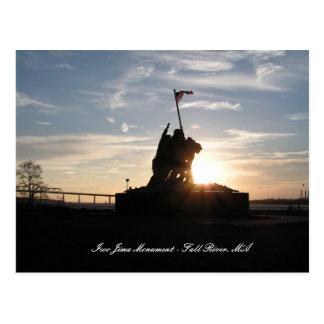 Carte Postale Monument d'Iwo Jima - Fall River, mA