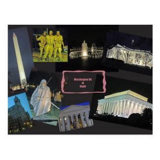 Carte Postale Monuments de Washington DC la nuit