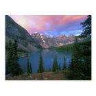 Carte Postale Moraine du Canada, Alberta, lac à l'aube, Banff