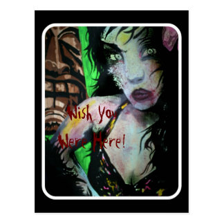 "Carte postale morte de zombi de Tiki ""de mers du"
