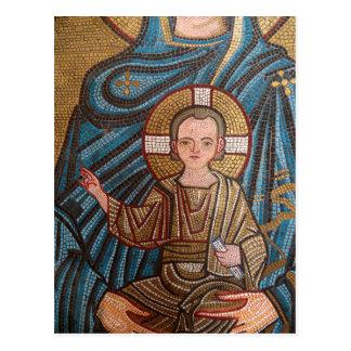 Carte Postale Mosaïque de bébé Jésus