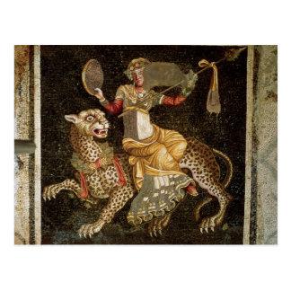 Carte Postale Mosaïque de Dionysus montant une ANNONCE du