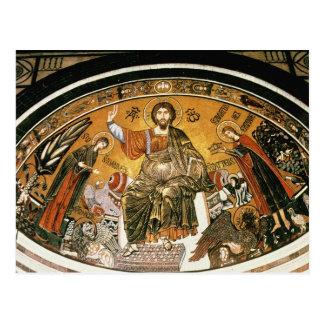 Carte Postale Mosaïque de Jésus-Christ avec la Vierge