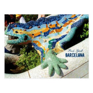 Carte Postale Mosaïques de Guell de parc de Barcelone
