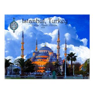 Carte Postale Mosquée bleue Istanbul