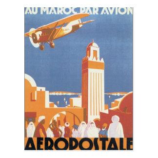 Carte Postale Mosquée vintage du Maroc Aeropostale