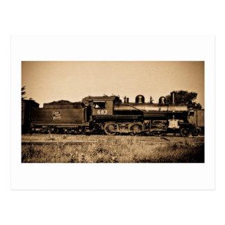 Carte Postale Moteur locomotif #683 de GTW à Bay City MI