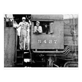 Carte Postale Moteur locomotif de train de cru du moteur 5427