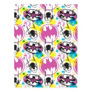 Carte Postale Motif 3 de code couleurs de Batman