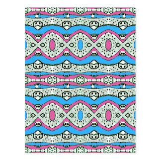 Carte Postale Motif aztèque de style dans des couleurs en pastel