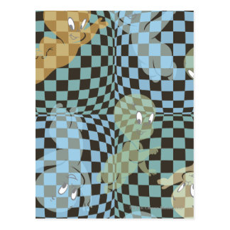 Carte Postale Motif Checkered de Casper