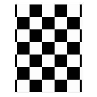 Carte Postale Motif Checkered noir et blanc