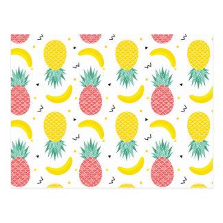 Carte Postale Motif coloré de fruit tropical
