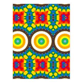 Carte Postale Motif coloré de point de kaléidoscope