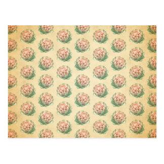 Carte Postale Motif d'artichaut avec un regard vintage de style