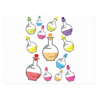 Carte Postale Motif de bouteille de laboratoire