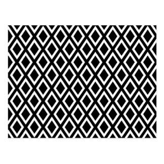 Carte Postale Motif de diamants noirs