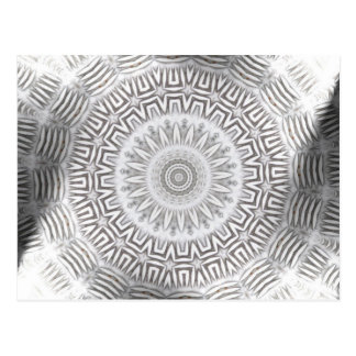 Carte Postale Motif de Kaleido d'élément EN MÉTAL