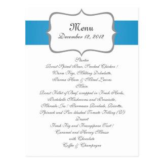 Carte Postale motif de Paisley de gray&blue sur le menu de