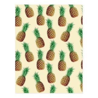 Carte Postale Motif de papier peint d'ananas